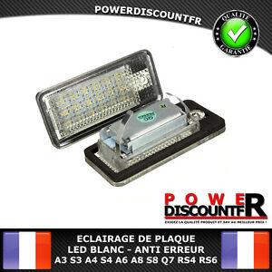 FEUX-ECLAIRAGE-DE-PLAQUE-LED-BLANC-XENON-AUDI-A3-S3-A4-S4-A6-S6-A8-S8-Q7-RS4-RS6