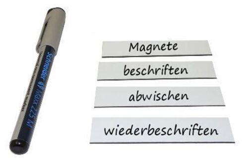 Etiketten Magnetstreifen 75 Magnetschilder beschreibbar 4 x 8cm in weiß