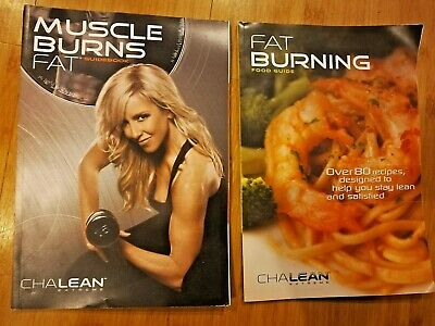 Chalean Extreme Muscle Burns Fat /& Food Nutrition Guide Books w// Fat Tester NIP