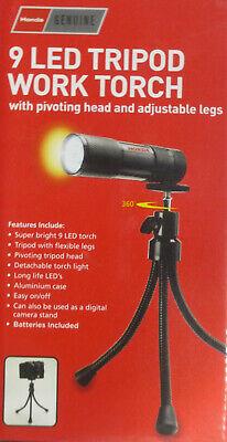 800 Lumen 5 Modes Rechargeable T6 LED Alarm Flashlight Torch TM25 Large Black
