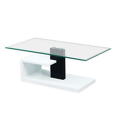 Glass Coffee Table White Base 7