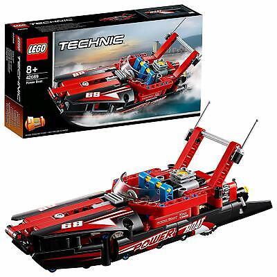 Lego 42089 Technic 1 en 2-MODEL POWER BOAT et Hydroglisseur Construction Toy Set