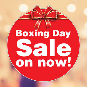 Image Is Loading Boxing Day Sale Xmas Christmas Sticker Decal Shopfront