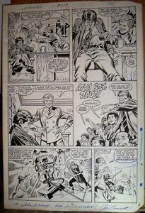 Marvel Original Comic Book Art! Black Widow! Hawkeye! David Letterman?!? - RARE!