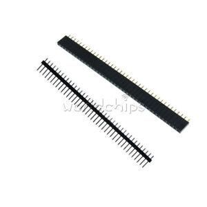20PCS-Male-amp-Female-40pin-Header-Socket-Row-Strip-PCB-Connector-Cool-2-54mm