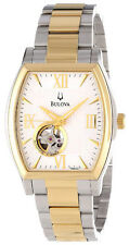 Bulova 98A131 Men's Two Tone BVA Series Partial Skeleton Automatic Watch