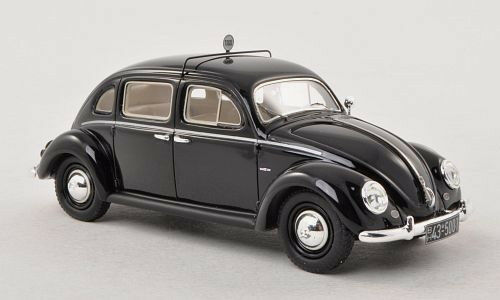 Maravilloso modelcar Vw Beetle rometsch 4 Puertas Taxi 1952-negro-Escala 1 43