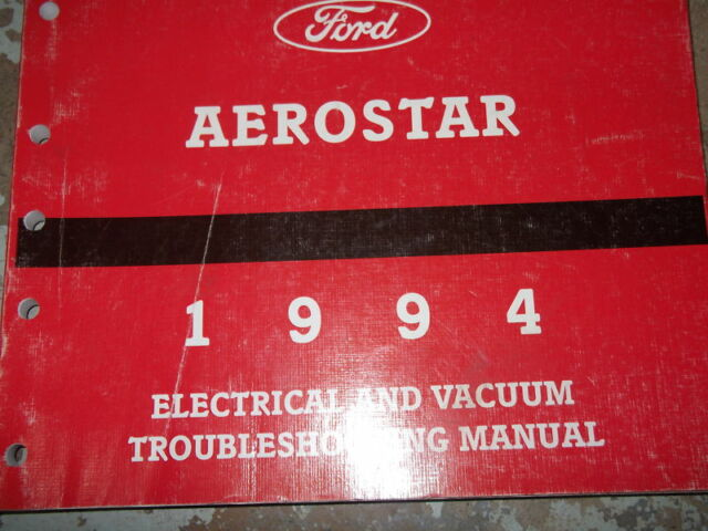 1994 Ford Aerostar Van Wiring Diagrams Electrical Service Shop Manual Evtm 94