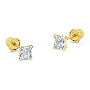 2-mm-Princess-Diamond-Tiny-Stud-Screw-back-Earrings-in-Solid-14k-Yellow-gold