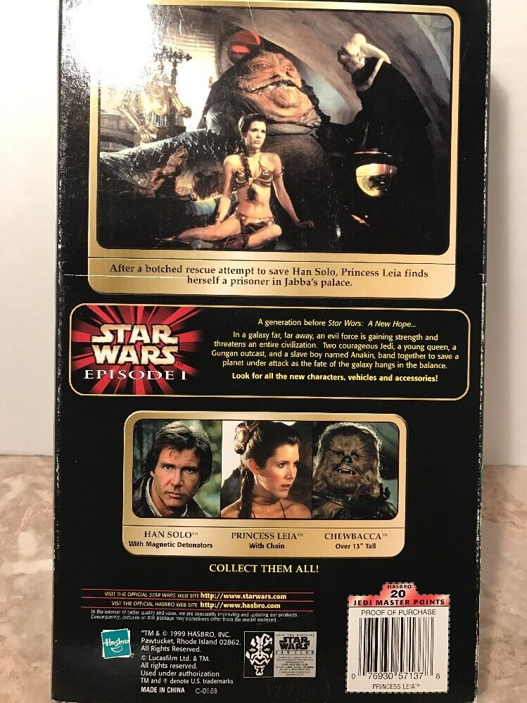 HASBRO STAR WARS POTF CARRIE FISHER PRINCESS LEIA PRISONER WITH WITH WITH CHAIN 12