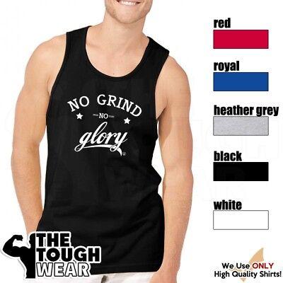 NO GRIND NO GLORY Gym Rabbit T Shirt 5 colors Workout Bodybuilding Fitness D363