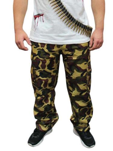 ARMY Uomini CAMOUFLAGE COMPLETO ACCESSORI PANTALONE T-SHIRT HAT DOG TAG BULLET Cintura