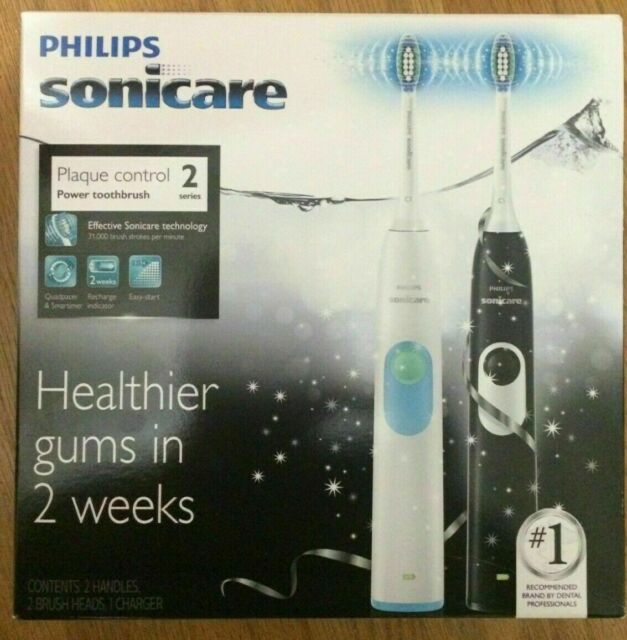 Philips Sonicare 2 Plaque Control Dual Handle Electric Toothbrush HX6212/19  -NEW