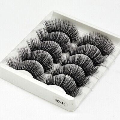 5Pair 3D Mink False Eyelashes Wispy Cross Long Thick Soft Fake Eye Lashes