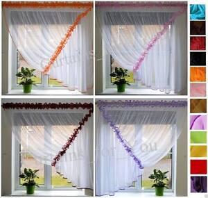 pret-a-l-039-em-Ploi-Filet-Rideaux-Voile-choix-de-couleurs-Incroyable-pour-vous