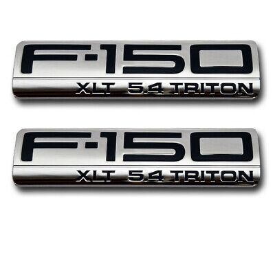 04-08 MATTE BLACK F-150 XLT 5.4 TRITON FENDER /& TAILGATE EMBLEM SET