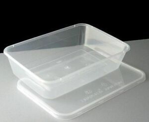 Image Is Loading 100 X Plastic Containers 500ml Tubs Clear With