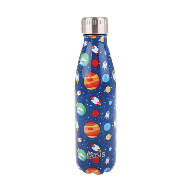 OASIS Double Walled Insulated 500ml Drink Bottle Vaccuum Flask: OUTER SPACE