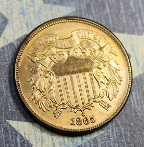 1865-2-Cent-Fancy-5-Beautiful-Collector-Coin-FREE-SHIPPING
