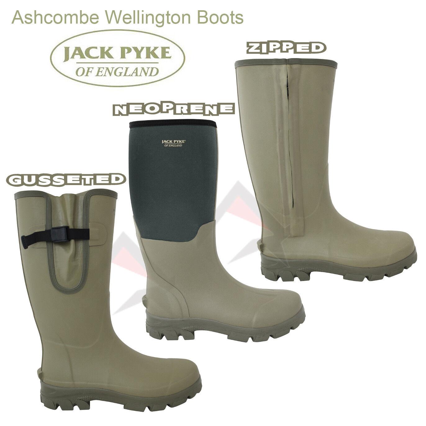Jack Pyke ASHCOMBE Wellingtons Cazadores De Caza Tiro botas de gama completa 6 - 12