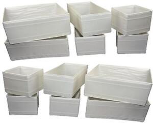 """12er Set IKEA Aufbewahrungsboxen /""""Skubb/"""" weiß Kisten Faltboxen Regaleinsätze"""