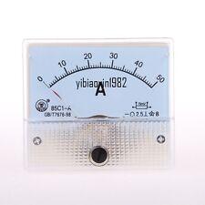 1pcs 85c1 A Dc 0 50a Rectangle Analog Panel Ammeter Gauge Ampere Meter Tester