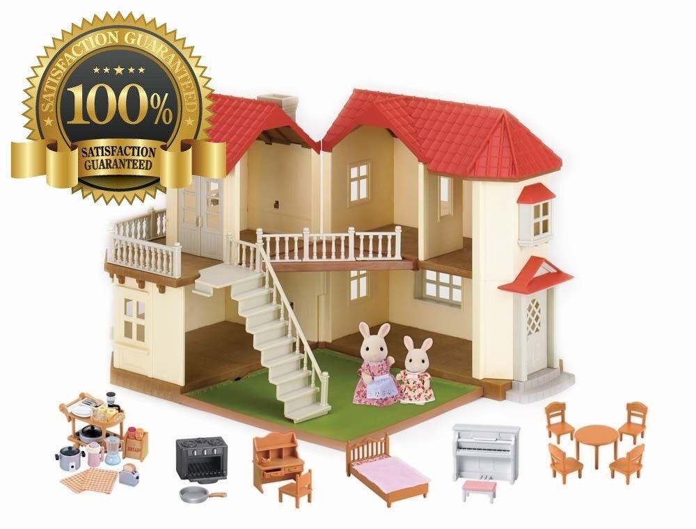 Bunte liegen bunte kleeblatt townhome geschenkset spielzeug luxus puppenhaus spielen