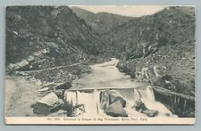Big Thompson Canyon Entrance ESTES PARK Colorado?Antique Postcard WT Parke 1908