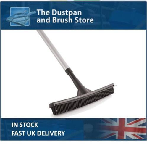 Caoutchouc Balai d/'intérieur en caoutchouc poil doux balayage brosse avec Extension poignée UK