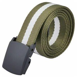 Men-039-s-Polyester-Belt-Army-Green-amp-white-I9E5