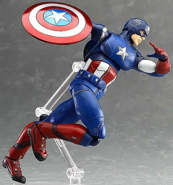 Marvel avengers figma serie captain america action - figur