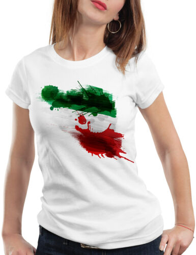 Iran T-Shirt Femme Football WM EM Drapeau National-Drapeau Fan-Article