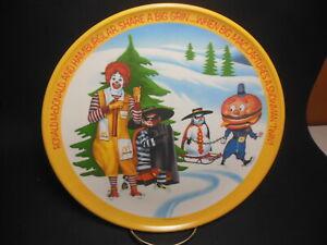 "RONALD MCDONALD VINTAGE 1977 LEXINGTON MELAMINE /""SNOWMAN TWIN/"" PLATE HAMBURGLAR"