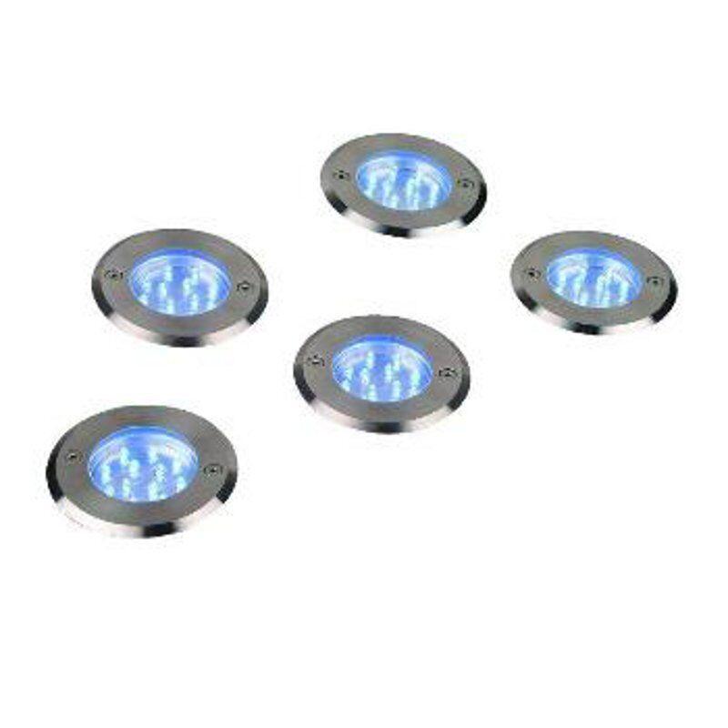 Edelstahl Bodeneinbaustrahler Bodeneinbaustrahler Bodeneinbaustrahler Bodenleuchten sehr flach LED Einbaulampen 5-Set AN e2c8da