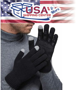 LETHMIK-Mens-amp-Womens-NonSlip-Touchscreen-Gloves-Winter-Warm-Knit-Wool-Lined-Phone