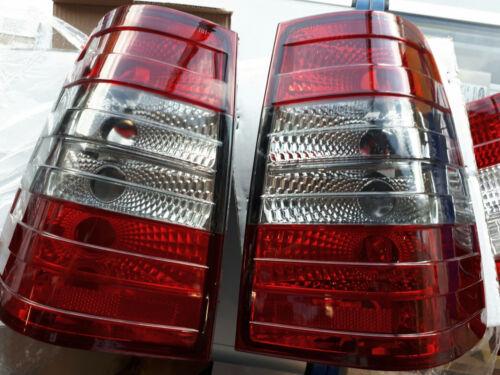 Mercedes Benz W124 S124 Wagon W124T 5D RED Smoke REAR TAIL LIGHTS Smoked black