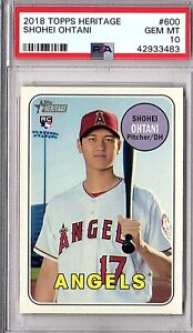 2018-TOPPS-HERITAGE-HIGH-NUMBER-600-SHOHEI-OHTANI-PSA-GEM-MINT-10-ROOKIE