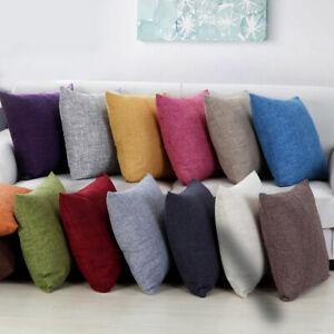 Cotton-Linen-Pillow-Case-Sofa-Waist-Throw-Cushion-Solid-Cover-Home-Decor