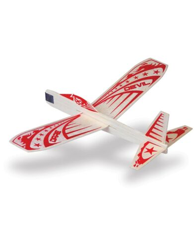 Set Of 3 Daredevil Balsa Wood Stunt Air Plane Glider By Guillows Free Shipping
