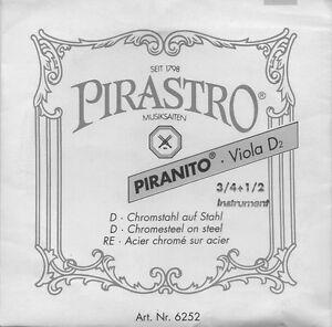 Corde-a-l-039-unite-Violon-Pirastro-3-4-1-2-Violin-D2-Re-Acier-chrome-sur-acier