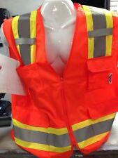 High Visibility Orange Two Tones Safety Vest Ansi Isea 107 2015