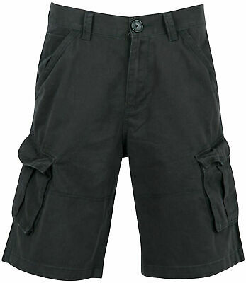 Begeistert Mens Firetrap Shorts Btk, Washed Black Camo Combat Cargo S M