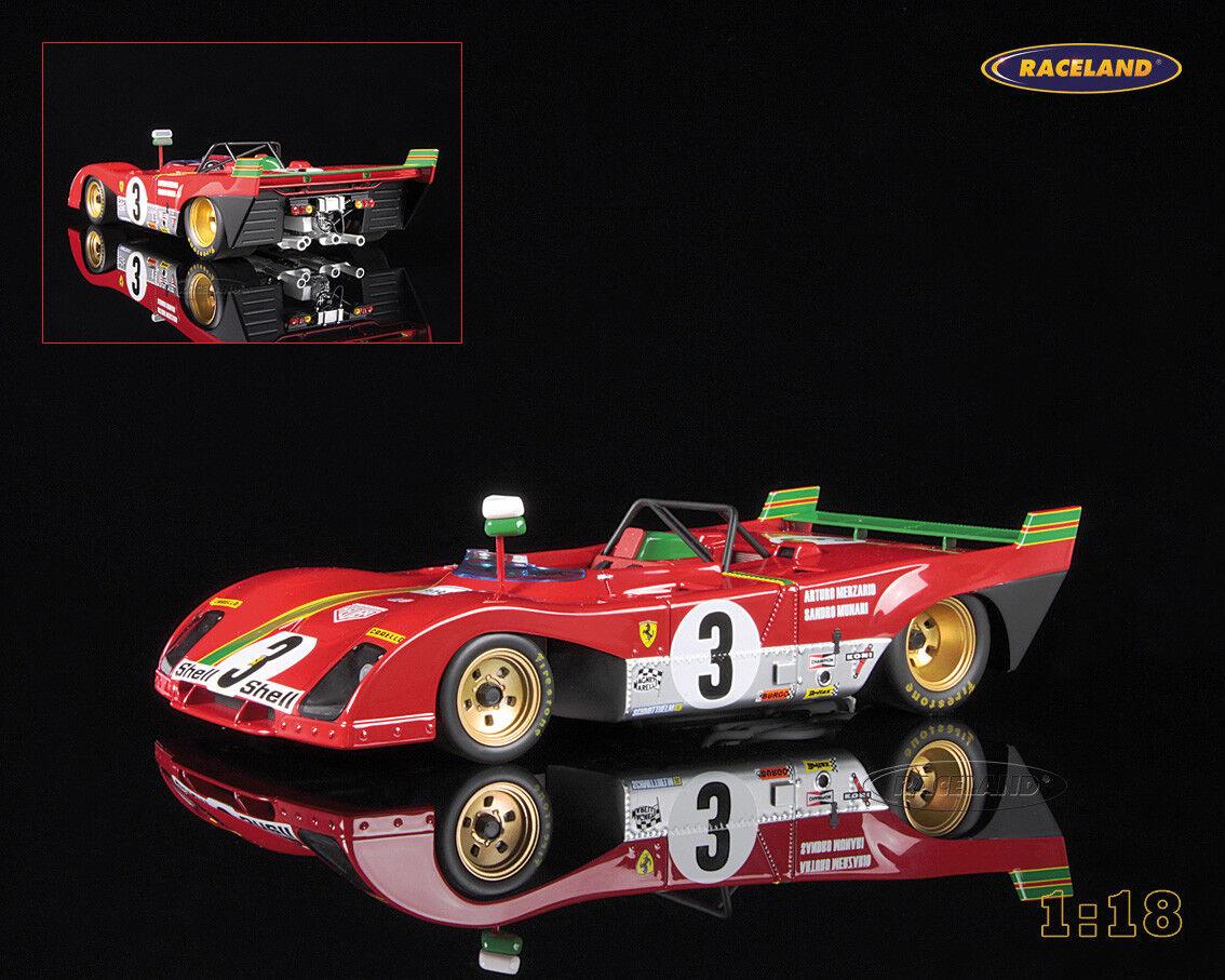 Te  er un voeu Ferrari 312pb Vainqueur/Winner Targa Florio 1972 Merzario/Munari, Tecnomodel 1:18   Pour Gagner L'éloge Chaleureux De La Part Des Clients
