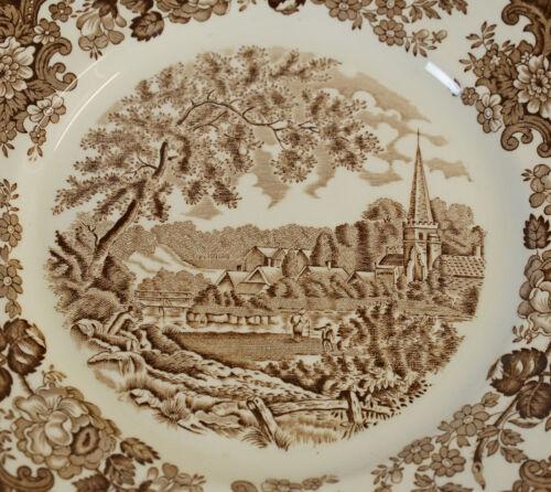Royal Worcester Palissy 1790 Avon Scenes Teller Servierteller Braun Ø 25 cm RAR