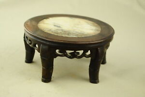 6-1-034-Antique-Chinese-Hand-Carved-Footed-old-Wood-Stand-Jade-in-the-inside