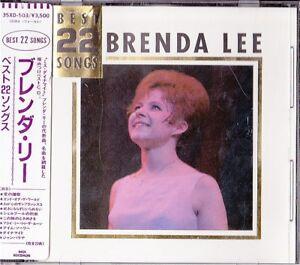 Brenda-Lee-Best-22-Songs-Japan-1st-CD-Sticker-Obi-1986-35XD-503
