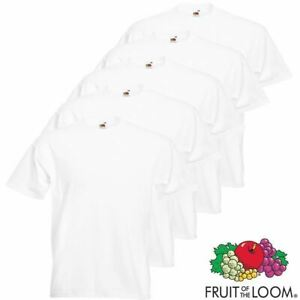 Fruit of the Loom Uni Blanc Coton Homme Femme