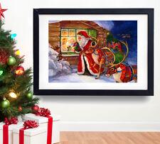 A3 Christmas Santa Poster * Father Xmas Kids Gift * Vintage Wall Art Decoration