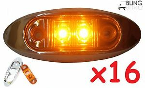 16-Amber-w-Bezel-Clearance-Side-Marker-Surface-Mount-2-034-LED-Light-Oval-Oblong