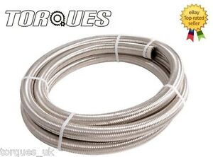 AN-10-AN10-Stainless-Braided-Fuel-Oil-Line-Hose-0-5m-1-2m